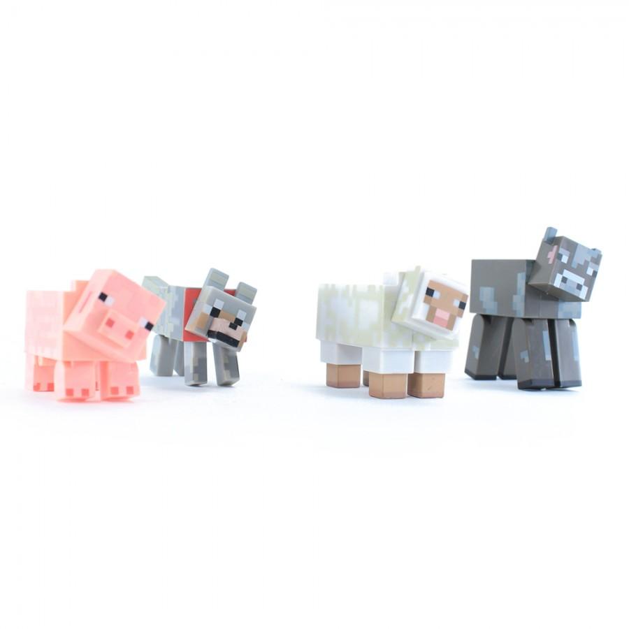 Наборы игрушек по мотивам игры майнкрафт Корова овца волк ...
