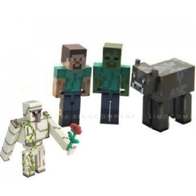 Майнкрафт набор 4 героя
